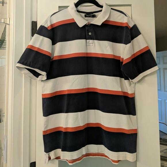 Nautica Other - Nautica Polo Shirt- Navy/White/Orange (Men's XL)